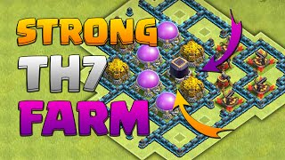 Clash Of Clans - TH7 Farming Base / Town Hall 7 Defence With Air Sweeper Anti Giant, Dragon 2015