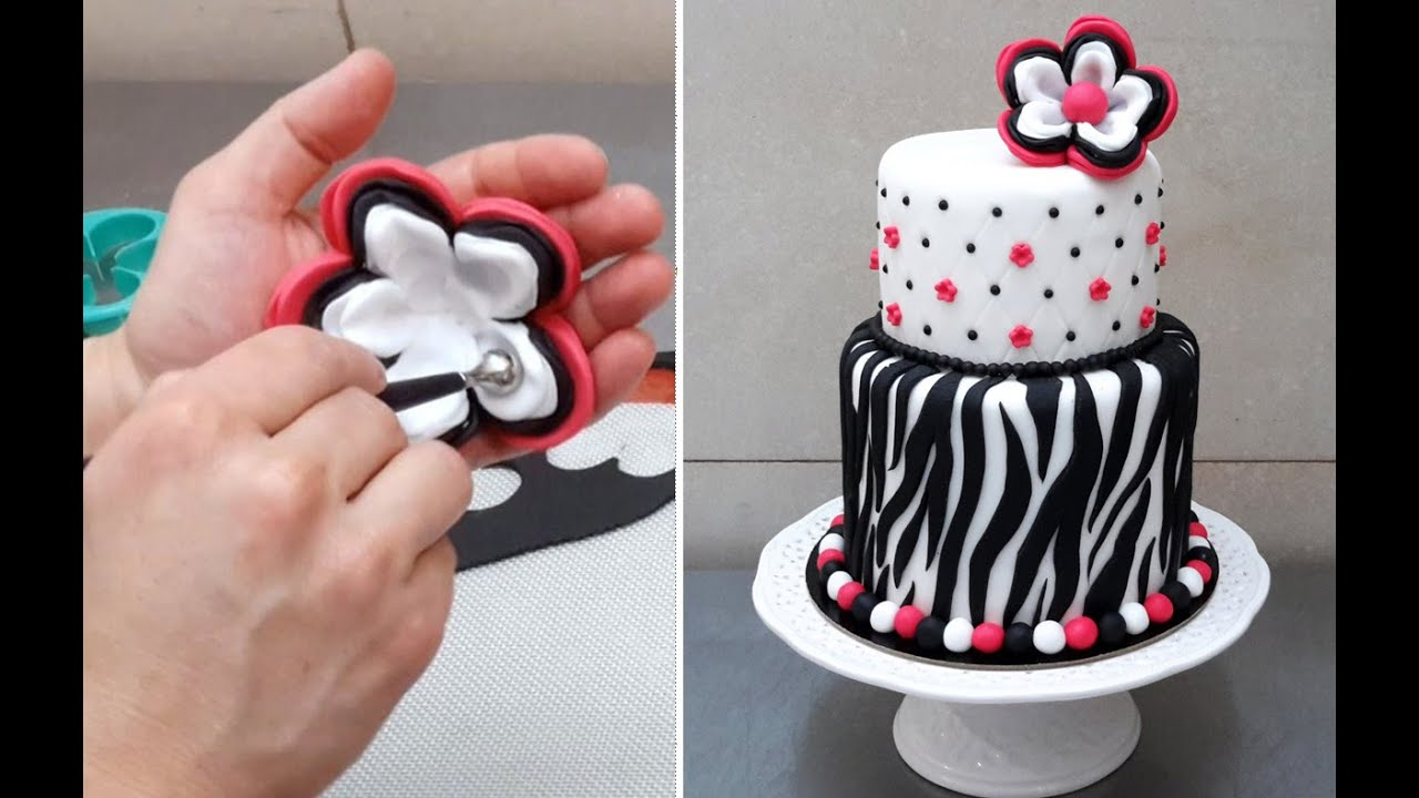 Zebra Cake Design Ideas : ZEBRA CAKE - How To - Cake Decorating Ideas by ...