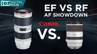 Autofocus EF vs RF Battle! Canon 70-200mm f2.8 lenses