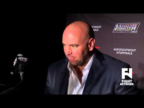 TUF Nations Finale Dana White Post Fight Scrum