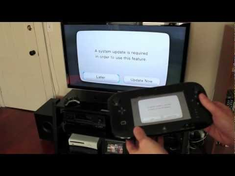 Nintendo Wii U unboxing. setup & system config video