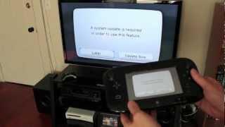 Nintendo Wii U unboxing, setup & system config video