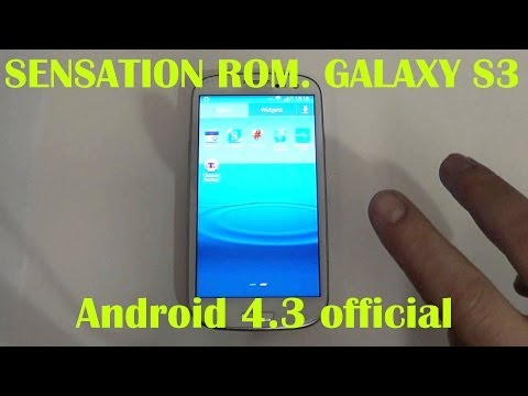 Sensation ROM V8 Galaxy S3. Android 4.3
