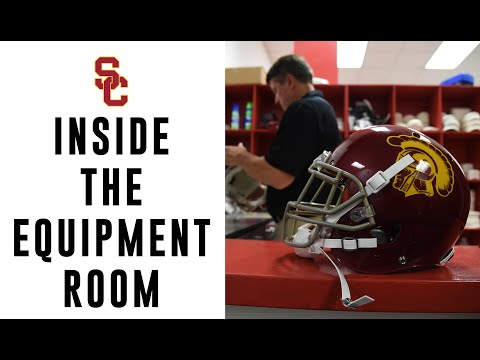 USC Football - Inside the Equipment Room