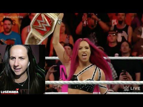 WWE Raw 6/20/16 Charlotte vs Paige Sasha Banks RETURNS