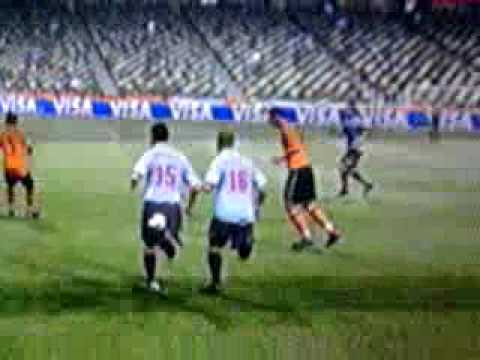 Rafeal Van Der Vaart goal on Fifa World Cup 2010 game