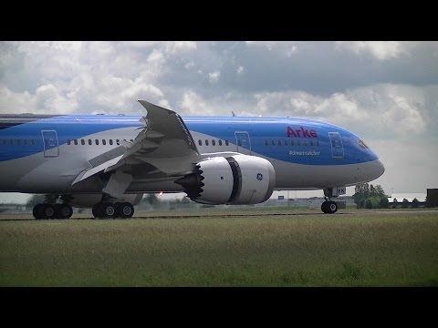 ArkeFly FIRST Boeing 787 DREAMLINER [PH-TFK] landing @ Amsterdam Schiphol【1080p】