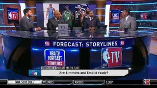 Forecast Storylines: Beasts In The East - Giannis, Simmons/Embiid Ready? Celtics/Raptors A Force?