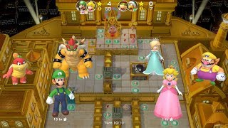 Super Mario Party Partner Party #38 Tantalizing Tower Toys Luigi & Peach vs Bowser Jr & Hammer Bro