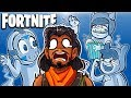 WE TRIED THE INVISIBLE GLITCH! (Friendly Trolly Ghosts) - Fortnite Battle Royale