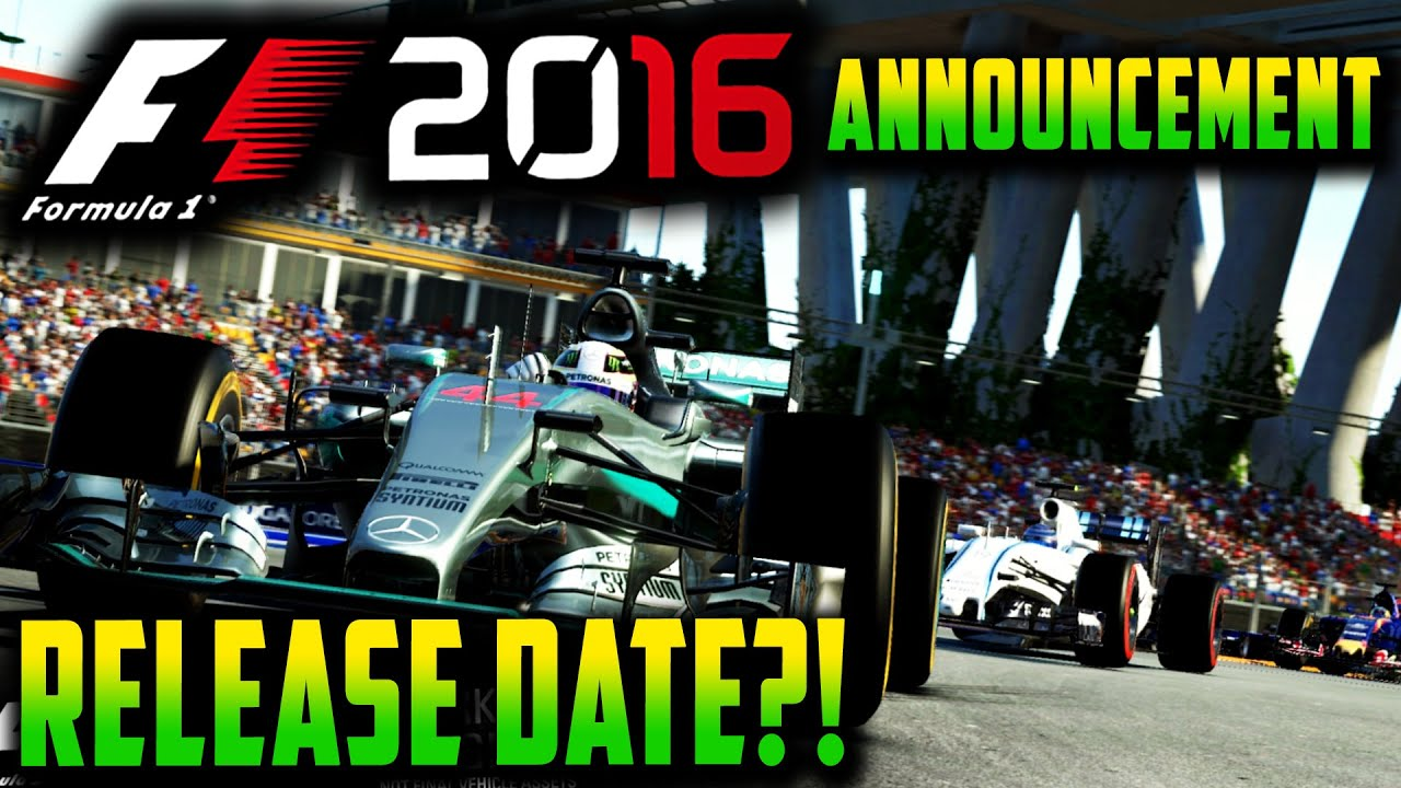 F1 2016 GAME ANNOUNCEMENT: RELEASE DATE?! NEW FEATURES?