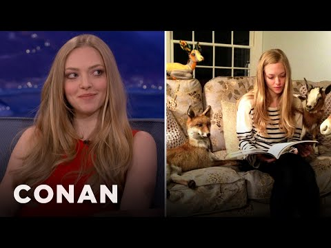 Amanda Seyfried Is Obsessed With Taxidermied Animals - CONAN on TBS