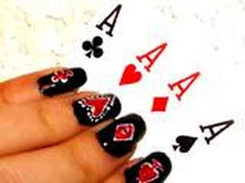 Lady Gaga Poker Face Inspired Nails