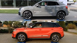 Audi Q2 Quattro vs Suzuki Vitara All Grip Select - 4x4 test on rollers