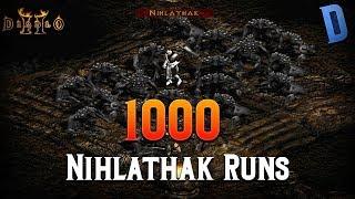 Diablo 2 - 1000 Nihlathak Runs!!!