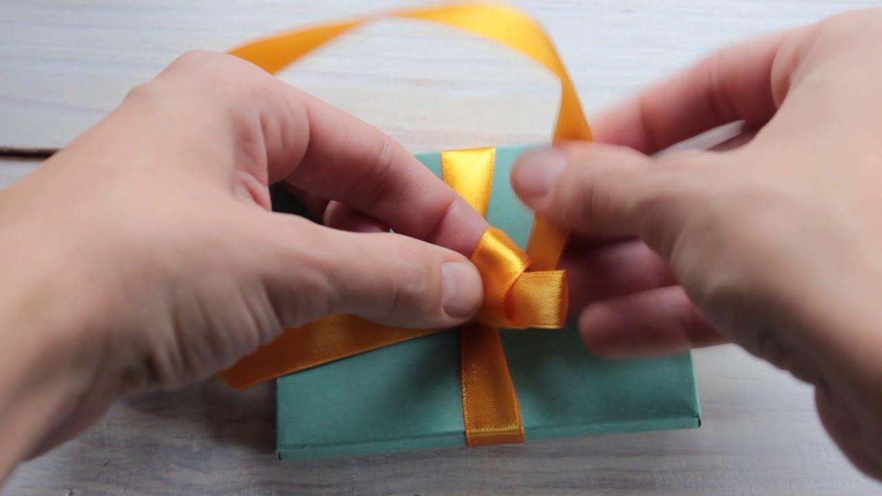 Завязать красивый бантик на подарок 75