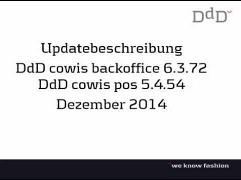 Updatebeschreibung Dezember 2014 / DdD COWIS – Warenwirtschaft, Kassensoftware & E-Commerce