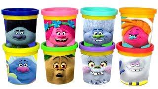Dreamworks Trolls Play Doh Surprise Toys Blind Bags Poppy Branch Bridget Prince Gristle Biggie Toys