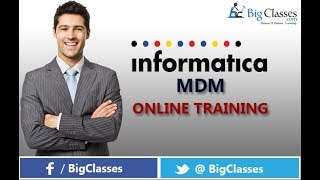 INFORMATICA MDM Training Tutorial for Beginners - Bigclasses