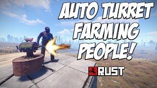 RUST | The AUTO TURRET is a player farming MACHINE! EASY TRAP! The Solo Polo Series! E4