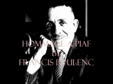 FRANCIS POULENC Improvisation for Piano no.15 in C minor Hommage a Edith Piaf