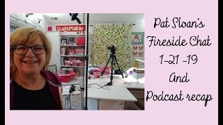 Pat Sloan Jan 21 fireside chat  and Podcast recap