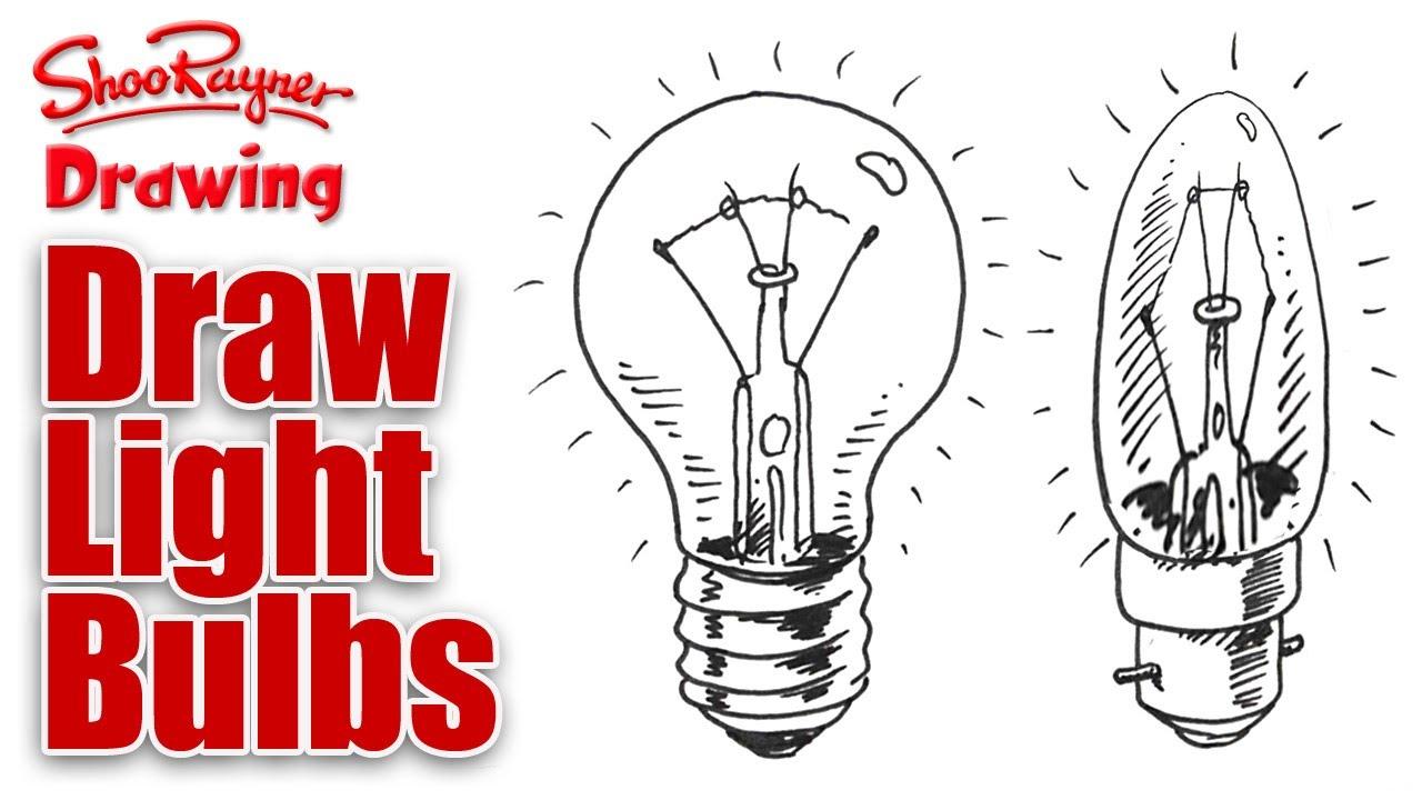 Light Bulb Drawing How to Draw Light Bulbs