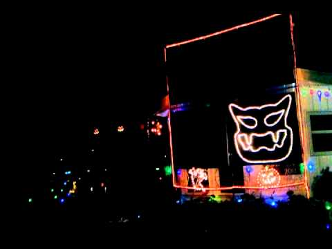 Halloween Light Show 2011-Grim Grinning Ghosts