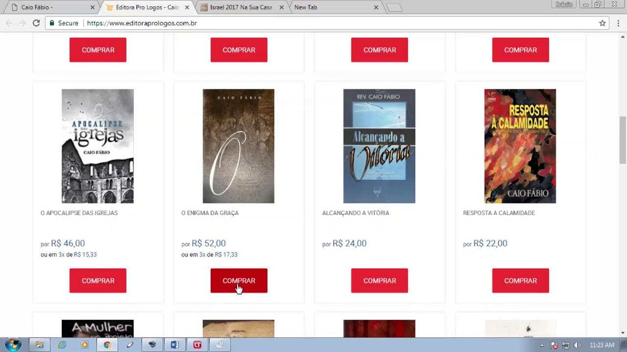Visite a Loja Virtual, hoje mesmo! caiofabio.net/livros