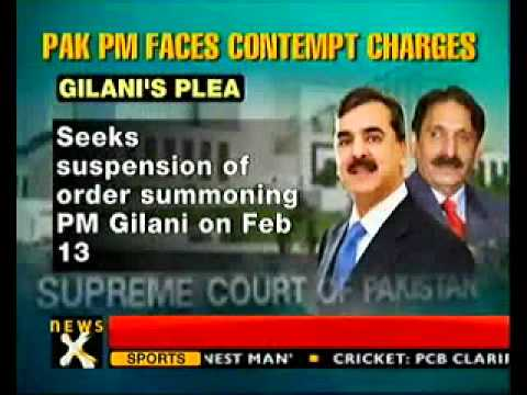 Contempt case: SC to hear PM Gilani's plea-NewsX