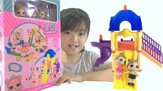Đồ Chơi Trẻ Em Bé Katy Lắp Ghép Cầu Trượt Cho Búp Bê - Kids Toys - Amusement Park - Katy Toys TV