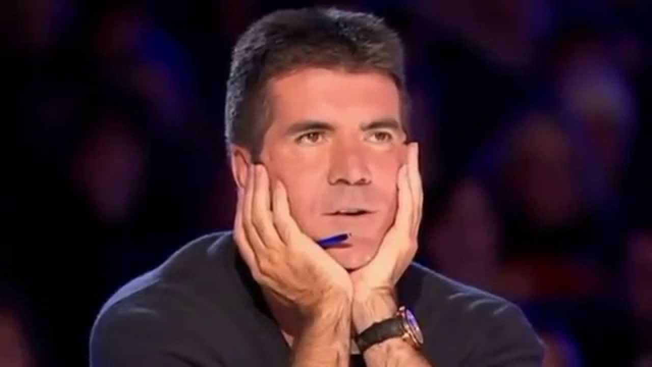 Simon cowell laugh gif