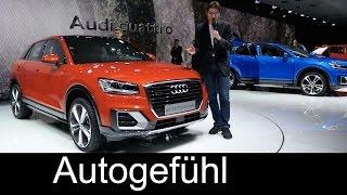 Audi Q2 REVIEW premiere Exterior/Interior/Colours all-new small SUV neu