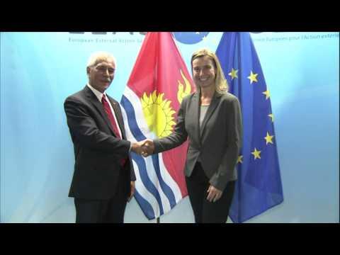HRVP Federica Mogherini receives Anote TONG, President of Kiribati