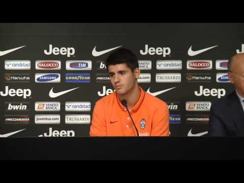 Presentación de Álvaro Morata con la Juventus