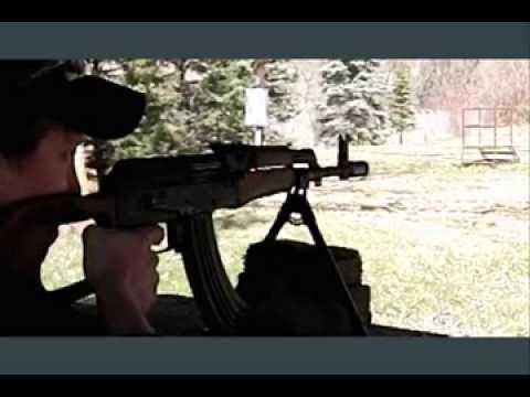 AK47 Barrel Flex - high speed video, 600fps