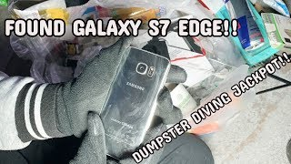 FOUND GALAXY S7 EDGE!! FREE PHONE!! DUMPSTER DIVING AT VERIZON STORE!!
