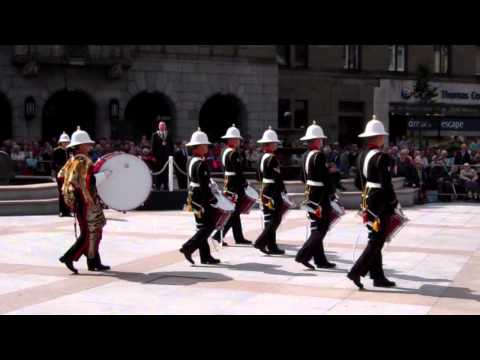 The Skye Boat Music HM Royal Marines Band Mini Military Tattoo City Square Dundee Scotland