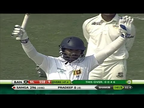 Kumar Sangakkara's Maiden Triple Century (319) Vs Bangladesh( Full Video - Hd ) video