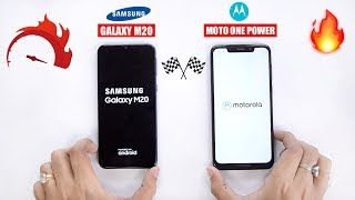 Samsung Galaxy M20 vs Moto One Power Speedtest Comparison & RAM Management 🔥