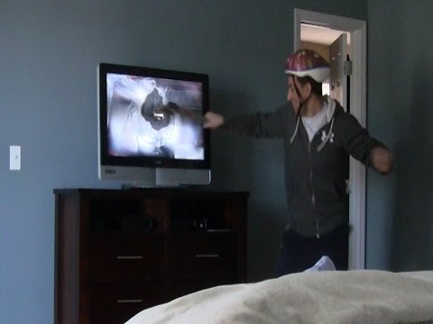 Bashing my Dad's TV - DAD FREAKS OUT!!!