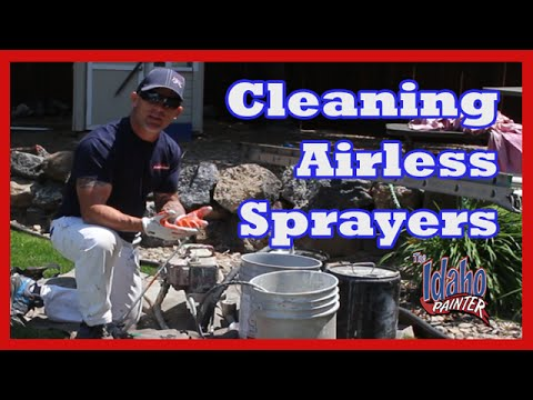 HOW TO CLEAN A Titan Wagner or Graco Airless Paint Sprayer after oil based paints.