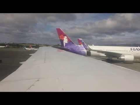 (60 FPS) Hawaiian Airlines 767 - Landing at Honolulu Int'l Airport
