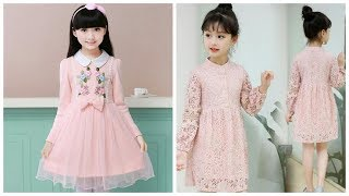 Cute Girl Kids Dresses Baby Girls Floral Lace Dress Designs