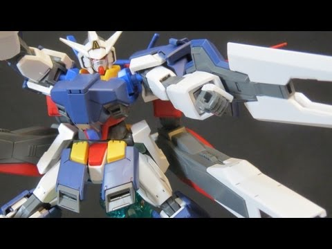 HG Age-1 Full Glansa (1: Unbox) Gundam Age Flit Asuno Gunpla plastic model review 