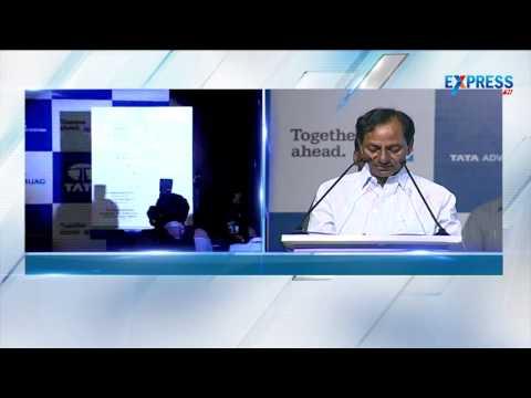 Telangana CM K Chandrasekhar Rao attends Tata Groups Company Launch in Hyderabad