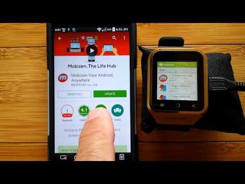 ZGPAX S8 Smartwatch Recommended Installation of Mobizen app