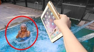 ANGRY SISTER THROWS IPAD PRO IN THE POOL!!