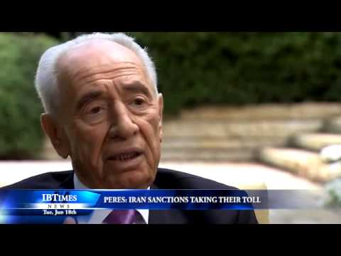 Peres: Iran Sanctions Taking Their Toll