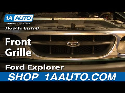 How To Install Replace Front Grille Ford Explorer 95-01 1AAuto.com